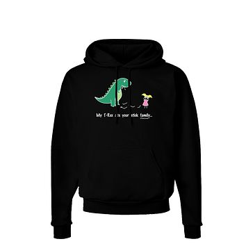 My T-Rex Ate Your Stick Family - Color Dark Hoodie Sweatshirt by TooLoud