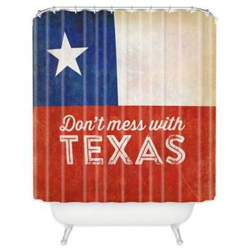 "DENY Designs ""Don't Mess With Texas"" Flag Shower Curtain"