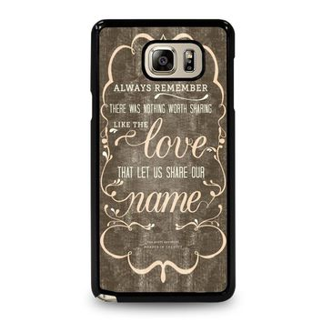 THE AVETT BROTHERS QUOTES Samsung Galaxy Note 5 Case Cover