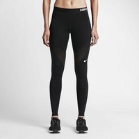 ICIKFC8 Nike Pro Running Power Epic Lx Leggings With Mesh Panels
