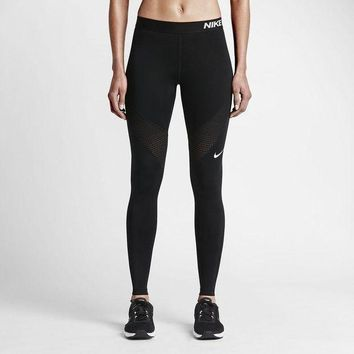 CREYONN Nike Pro Running Power Epic Lx Leggings With Mesh Panels