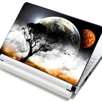 "Meffort Inc® 15 15.6 Inch Laptop Notebook Skin Sticker Cover Art Decal - Fits 13.3"" 14"" 15"" 16"" HP Dell Lenovo Asus Compaq Asus Acer Computers (Free Wrist Pad) (Planet Mars View)"