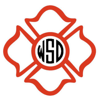 Firefighter Monogram Decal