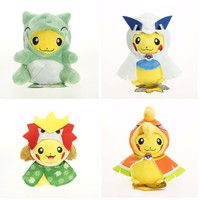 2016 Pokemon Go 23cm Pikachu Cosplay Entei & Ho-Oh & Lugia Cute Kids Action Figure Plush Toys