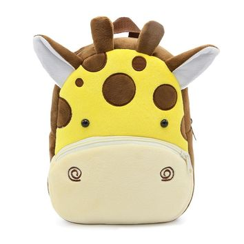 Winmax Factory Girls Boys Cute Plush School Backpacks Kindergarten Cartoon School Bag Children Animal Toys Bag Infantes Mochila