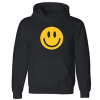"""Zexpa Apparelâ""""¢ Happy Smiley Face Unisex Hoodie Funny Cool Graphic Print Hooded Sweatshirt"""