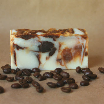 Peppermint Mocha Soap, All Natural Soap, Handmade Soap, Vegan Soap, Coffee Soap, Chocolate Soap, Peppermint Soap