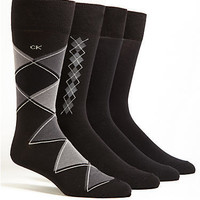 Calvin Klein Argyle Crew Dress Socks 4-Pack Hosiery ACP192 at BareNecessities.com