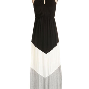 ModCloth Colorblocking Long Sleeveless Maxi Ease into the Day Dress