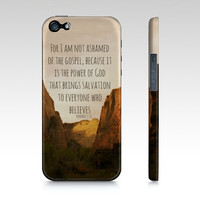 Romans 1:16 Bible Verse iPhone 4/S iPhone 5 Samsung Galaxy S3 Phone Case Slim Fit Hard Case Gift for Her Gift under 50 Gift for Him Photo