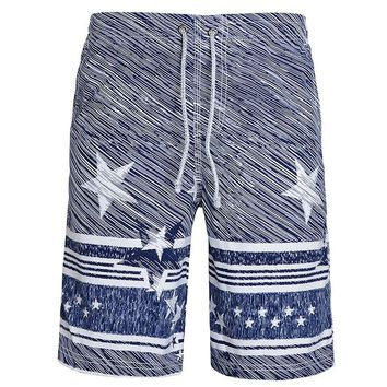 Casual Shorts Men Loose Print Shorts For Male