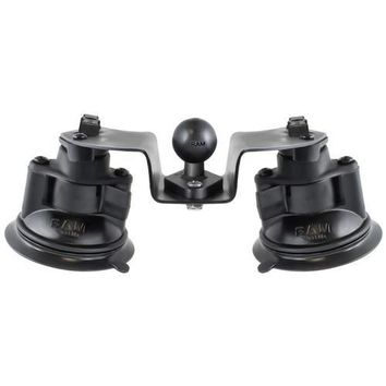 """RAM Mount Dual Articulating Suction Cup Base w/1"""" Ball Base"""