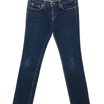 J Brand Jeans 914 Ink Cigarette Leg Dark Wash Stretch Womens 27 - Preowned