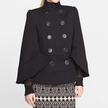 Women's Alexander McQueen Double Breasted Wool Jacket,