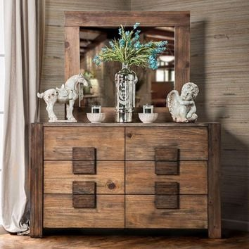 Janeiro Sothis Dapper Dresser, Transitional Style, Rustic Natural Tone