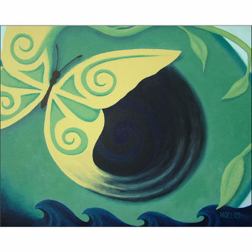 Transcendence - Giclee Print of Acrylic Paint Butterfly Fine Art