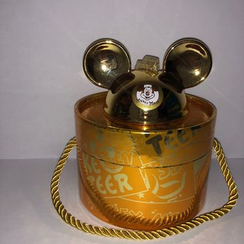 Disney Parks Mickey Mouse Club Gold Ear Hat Ornament Limited Edition 2000