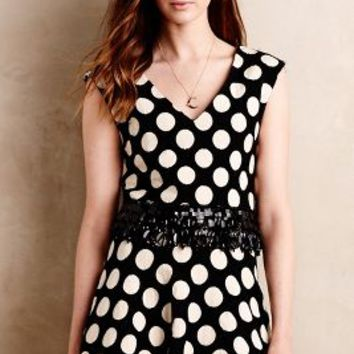Tracy Reese Dotted Chandelier Midi Top in Black & White Size: