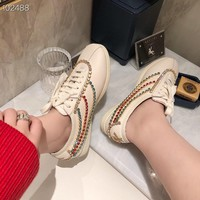 Superior quality Gucci Women Casual Shoes Boots  fashionable casual leather Women Heels Sandal Shoes