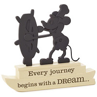 Disney Hallmark Steamboat Willie Silhouette Every Journey Begins with Dream New