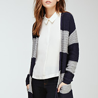 Striped Loose-Knit Cardigan