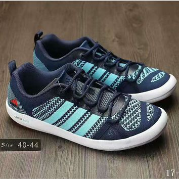 Adidas Wading water shoes Casual Shoes navy blue light blue knit H-AHXF