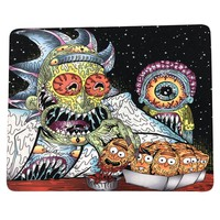 "8""x10"" Trippy Psychedelic Art God of Eye Mouse Pad Dab Mat Oil Absorbent Dabpad"