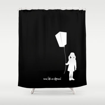 Some kids are different - Girl Shower Curtain by HappyMelvin