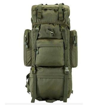 Men's bags nylon 65 l big army backpack super bag  huge capacity backpack  waterproof  laptop backpack wearproof high grade