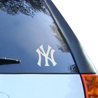 "MLB Yankees New York Window Graphic Sticker, 9"" x 5"" x 0.2"", Team Logo"