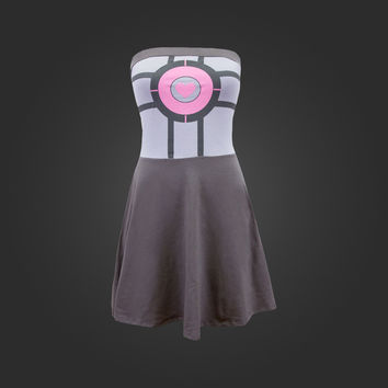 Valve Store:Companion Cube Tube Fit and Flare Dress