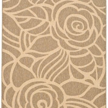 Courtyard Transitional Indoor/Outdoorarea Rug Coffee / Sand