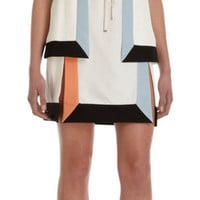 Fendi Colorblocked Sleeveless Dress