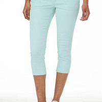 Taylor Super Skinny Color Crop Sea Breeze