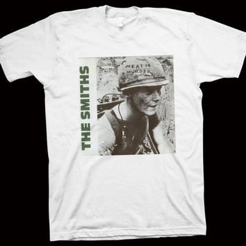 "The Smiths "" Meat is Murder "" T-Shirt Morrissey, The Adult Net, Moondog One, Joy Division, New Order, The Cute, The Stone Roses, Johnny Marr"