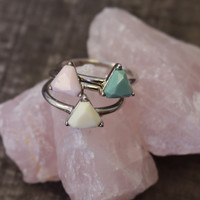 STACKING TRIANGLE RING SET