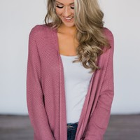 Mauve Knit Cardigan