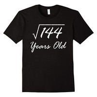 Square Root Of 144 Funny 12th Birthday Shirt Gift