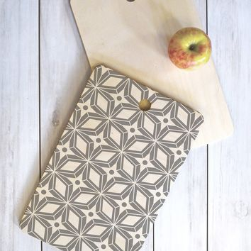 Heather Dutton Starbust Grey Cutting Board Rectangle