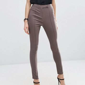 ASOS High Waist Trousers In Skinny Fit at asos.com