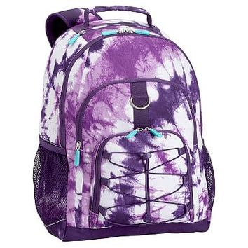 Gear-Up Purple Tie-Dye Backpack