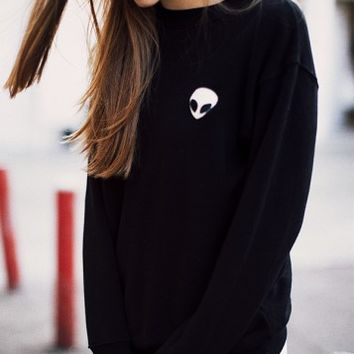 ERICA ALIEN PATCH SWEATSHIRT