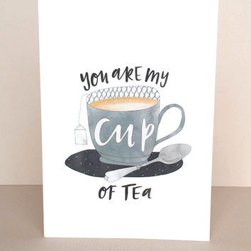 My Cup Of Tea Greeting Card by In The Daylight