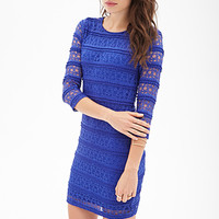 LOVE 21 Ruffled Lace Sheath Dress
