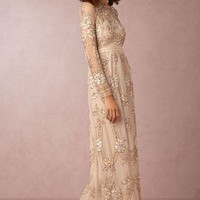 Adona  Wedding Guest  Wedding Guest Dress by Anthropologie x BHLDN in Dust Rose Size:
