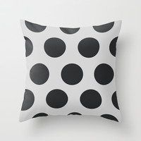 Modern dots Throw Pillow by kongkongpaper