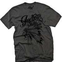 "Men's ""Indian Motorcycle Club"" Tee by Fifty5 Clothing (Black Pigment)"