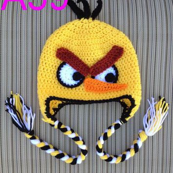 free shipping, 20pcs/lot baby BIRD hat, Children's crochet hat ,Funny hat, Crochet UNIQUE hat 100% cotton NB-6YEARS