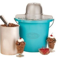 Nostalgia Electrics ICMP-400BLUE 4-Quart Electric Ice Cream Maker: Kitchen & Dining