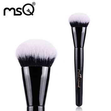 MSQ Round Angled Foundation Brush Synthetic Hair Cosmetic Brush Wood Handle Professional Product Single Makeup Brush